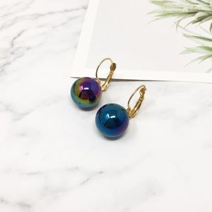 4/$25 • ONLY 1 Iridescent Bead Lever Back Earrings
